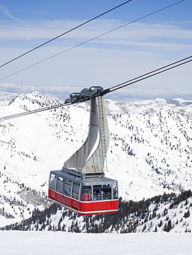 Tram on mountain, Snowbird Ski Resort, Wasatch Mountains, Utah, United States