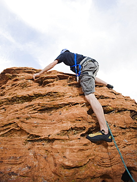 A rock climber at Red Rock