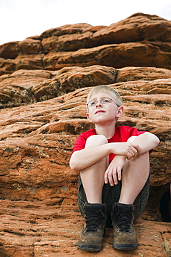 A young boy at Red Rock