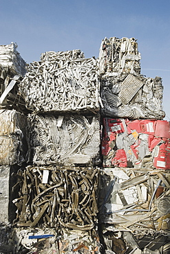 Stack of recycled metal