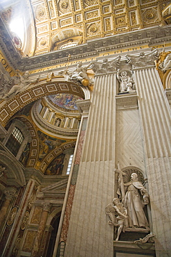 Interior view of St. Peter's Basilica, Vatican City, Italy