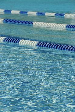 part of swimming lane markers on swimming pool, USA, North Carolina