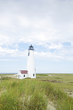 View of lighthouse, Nantucket, Massachusetts, New England, USA