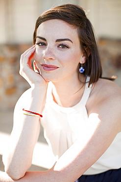 Portrait of young beautiful woman, USA, Utah, Salt Lake
