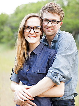 Portrait of young couple, USA, Utah, Salt Lake City
