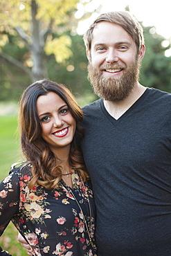 Portrait of couple, Salt Lake City, Utah