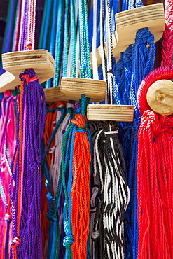 Colorful craft products at market, Mexico, Quintana Roo, Yucatan, Cancun