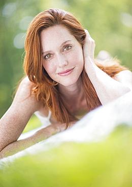 Portrait of woman, USA, New Jersey, Mendham