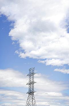 View of electricity pylon