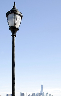 View of street light, Jersey City, New Jersey