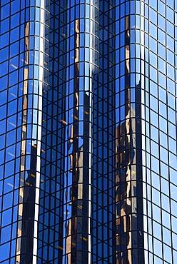 Financial District, Reflections in glass building, Boston, Massachusetts,USA