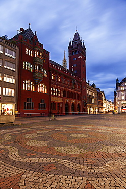 Town hall and market square, Switzerland, Basel-Stadt, Basel, Basel Town Hall, Marktplatz