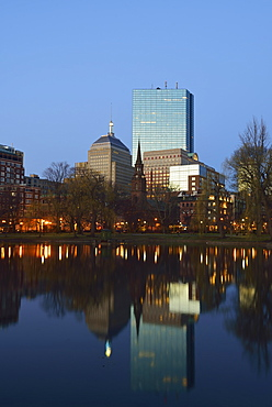 Copley Square at sunset, USA, Massachusetts, Boston, Copley Square