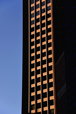 Window pattern in office building, USA, Massachusetts, Boston, Financial District