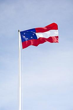 South Carolina, Sullivan's Island, Flag against sky