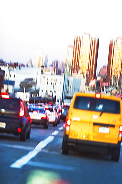 USA, New Jersey, Jersey City, Traffic in city street
