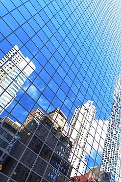 USA, New York State, New York City, Manhattan, Facade of office building