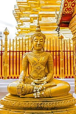 Gold Buddha sculpture in Bangkok, Thailand