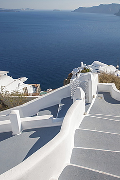 Whitewashed staircase in Santorini, Cyclades Islands, Greece
