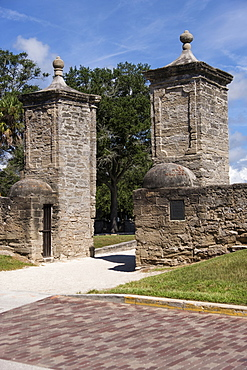 Old city gates of St. Augustine, USA