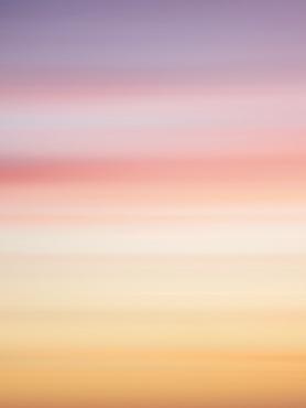 Long exposure shot of sunset cloudscape