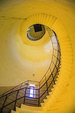 Spiral staircase inside lighthouse in Krynica Morska, Pomerania, Poland
