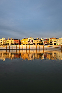City skyline with Guadalquivir river in Seville, Spain