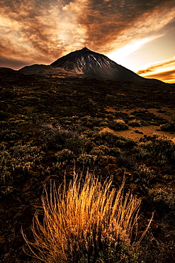 Mount Teide during sunset in Tenerife, Spain