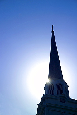 Silhouette of a church steeple