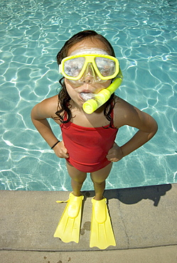 Girl ready for a swim