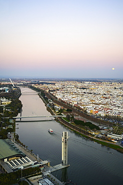 Spain, Andalusia, Seville, High angle view over Guadalquivir River