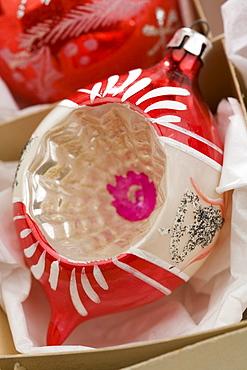 Closeup of Christmas ornanaments