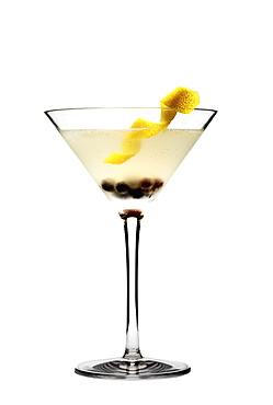 Elegant cocktail on white