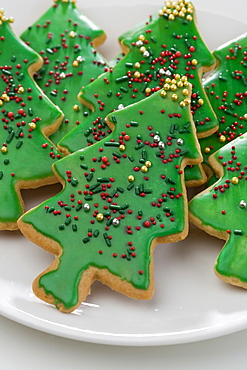 A group of Christmas cookies