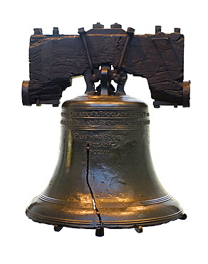 Still life of Liberty Bell