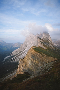 Italy, Dolomite Alps, Seceda mountain, Scenic view of Seceda mountain in Dolomite Alps