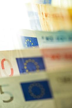 Row of Euro bills