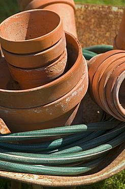 Still life of flowerpots