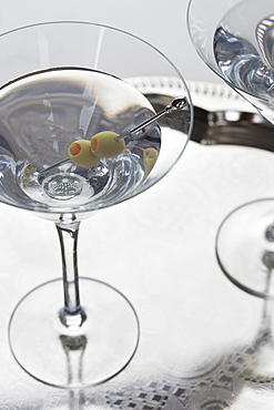 Closeup of a martini cocktail