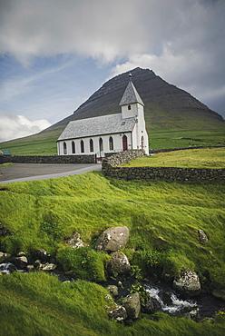 Denmark, Faroe Islands, Vidareidi, Exterior of church