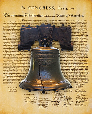 Liberty Bell and the Declaration of Independence
