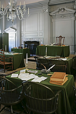 Assembly room in Independence Hall Philadelphia PA
