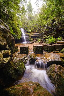 Australia, New South Whales, Blue Mountains National Park, Waterfall in Blue Mountains National Park