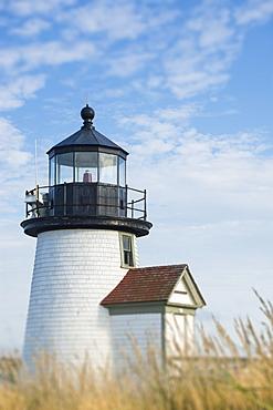 USA, Massachusetts, Nantucket Island, Exterior of Brant Point Light lighthouse