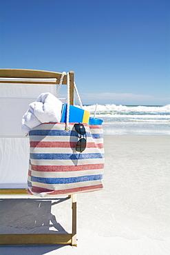 Bag on beach chair