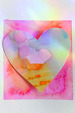 Studio shot of colorful paper heart