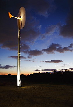 Wind turbine, Chesapeake Bay Foundation, Virginia Beach, Virginia, USA