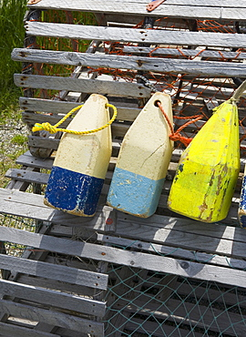 Buoys and lobster traps Maine