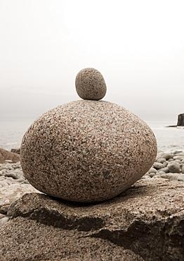 Stones near Otter Cliffs Acadia Maine