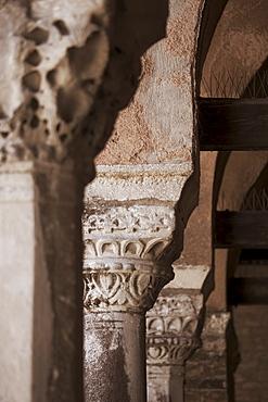 Columns Byzantine church of Santa Fosca Torcello Italy